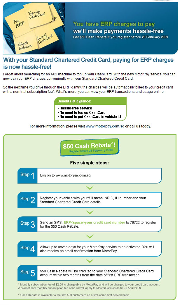 standard chartered credit card payment