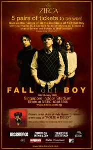 Fall Out Boy Concert Promotion