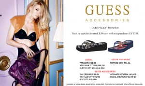 Guess Edgy Sandals Promotion