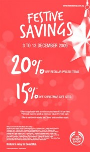 The Body Shop Christmas Festive Savings Promotion