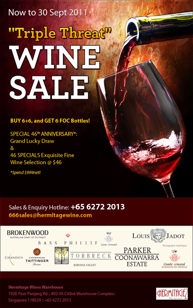 triple threat wine promotion  hermitage wines great deals singapore