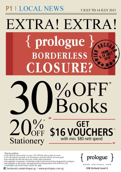 { prologue } Bookstore Closing Down Sale at ION