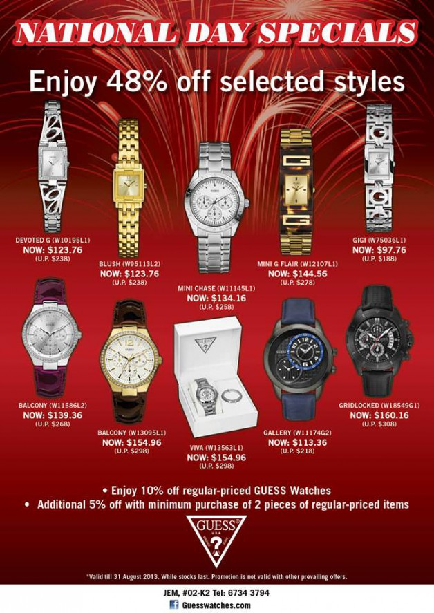 JEM Guess Watches Sale