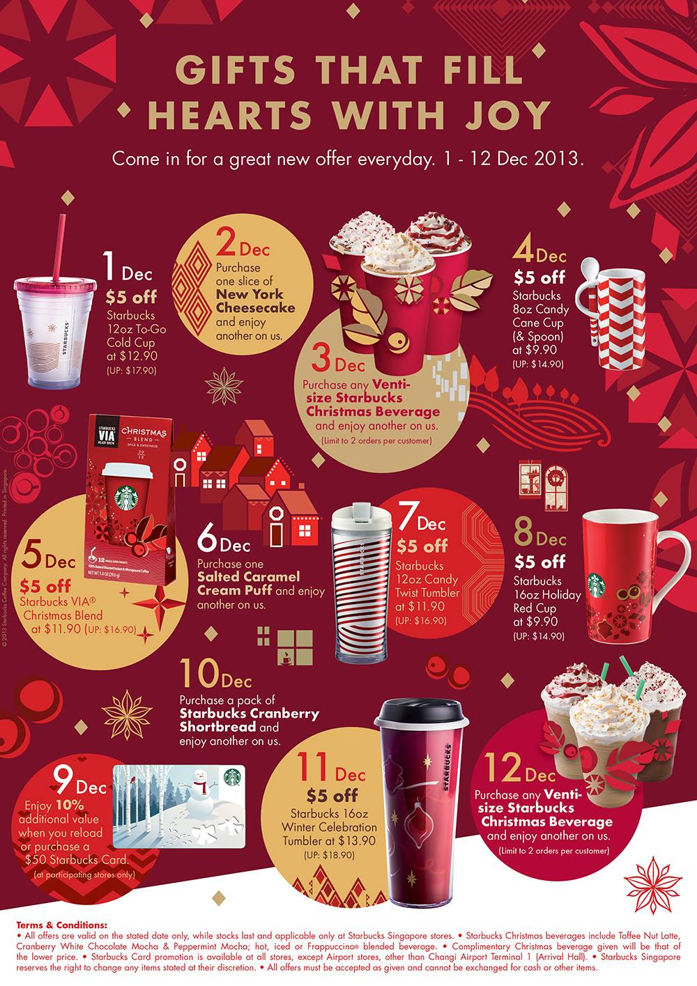 Starbucks Christmas 12 Days Of Gifting Everyday Offers