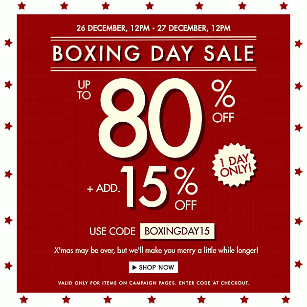 Zalora Boxing Day Sale 2013 Up To 80 Discounts On Over 800 Items Additional 15 Off With Coupon Code