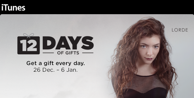 apple-12-days-gift-app-lorde