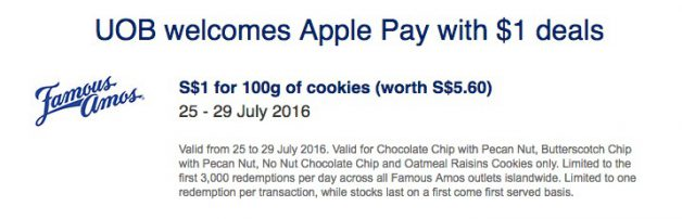 famous-amos-uob-apple-pay-promo