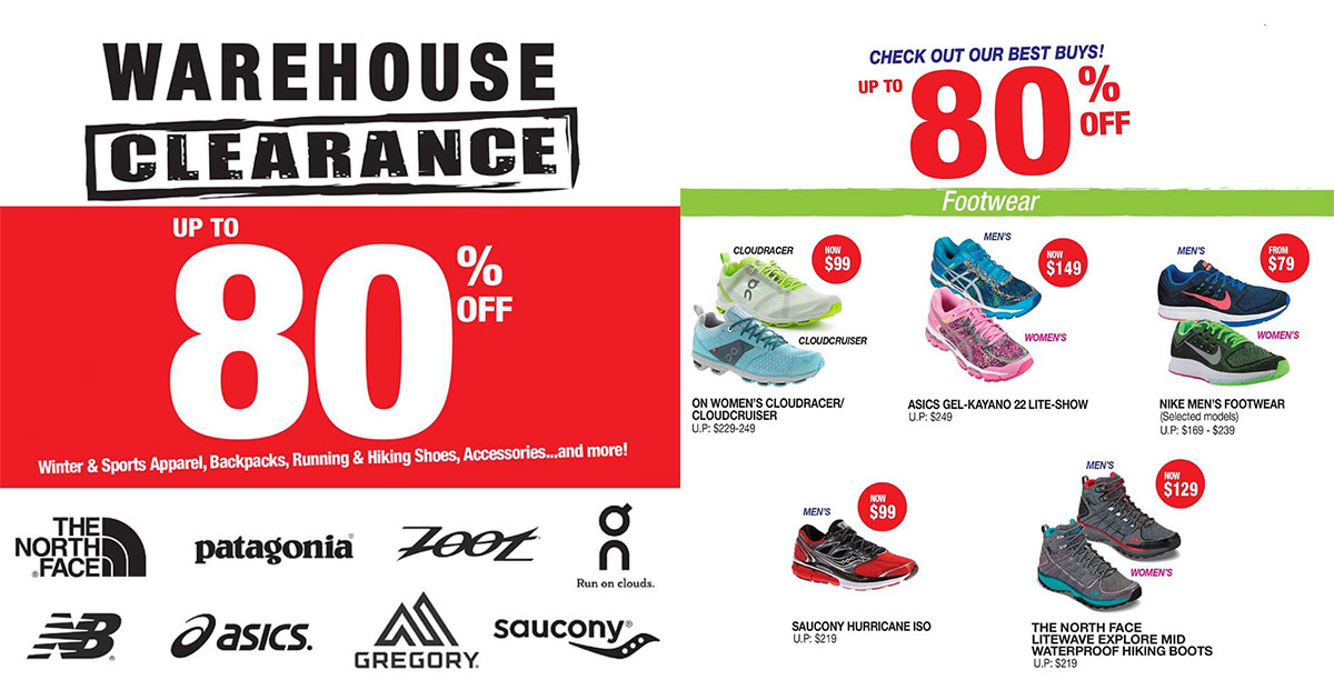 The warehouse shoe sale coupons