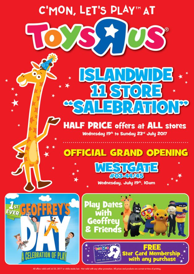 Toys R Us Prices : Toys quot r us launches islandwide store salebration