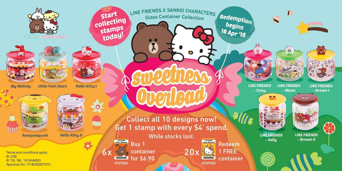 d537efc57 7-Eleven launches new Line Friends x Sanrio Glass Container Collection  starting from April 18