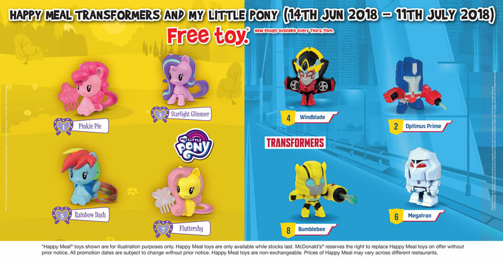 New McDonald's Happy Meal toys now available - My Little