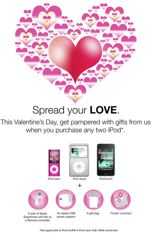 Apple iPod Valentine Promotion
