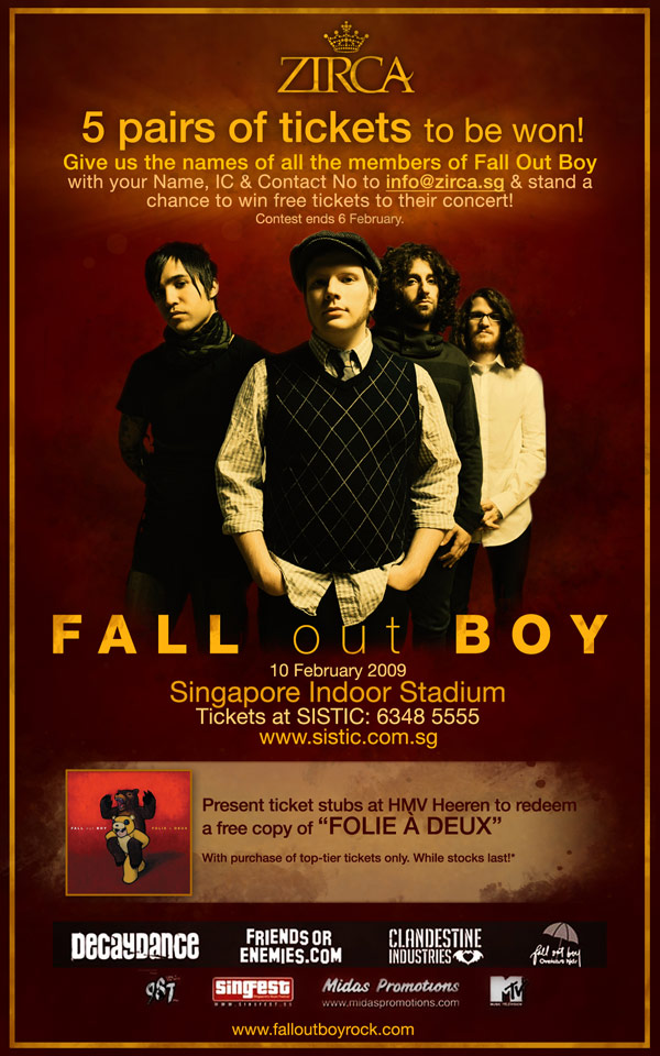 Win Tickets To Fall Out Boy Concert