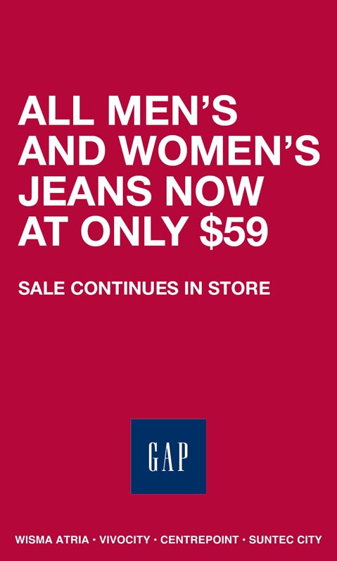 GAP Jeans Special Promotion