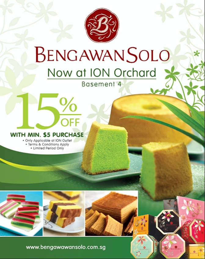 Bengawan Solo ION Orchard Opening Promotion