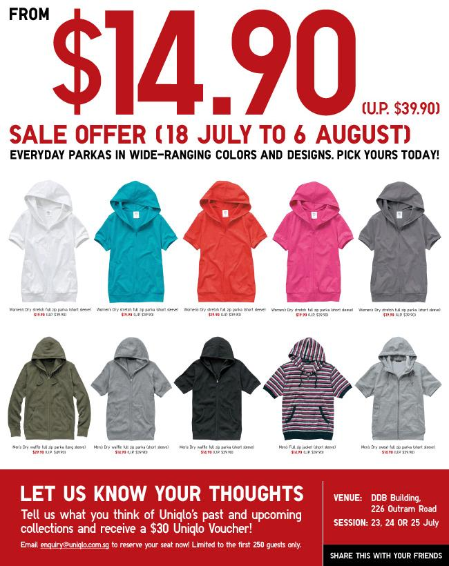 Uniqlo parka jacket singapore