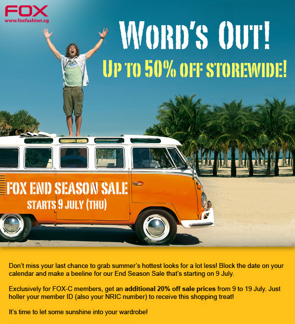Fox Fashion End Season Sale Promotion