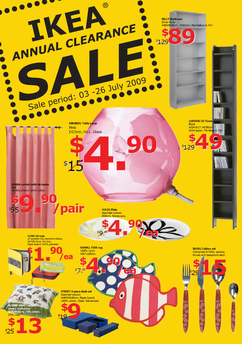 ikea annual clearance sale great deals singapore. Black Bedroom Furniture Sets. Home Design Ideas