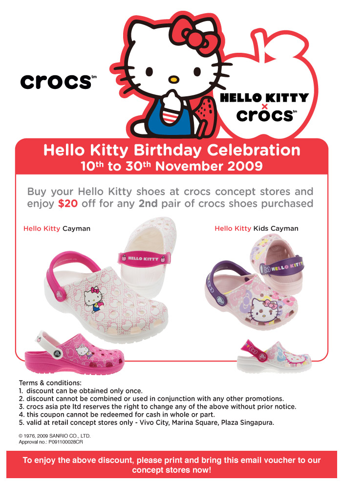 Crocs Hello Kitty Birthday Celebration | Nov 2009