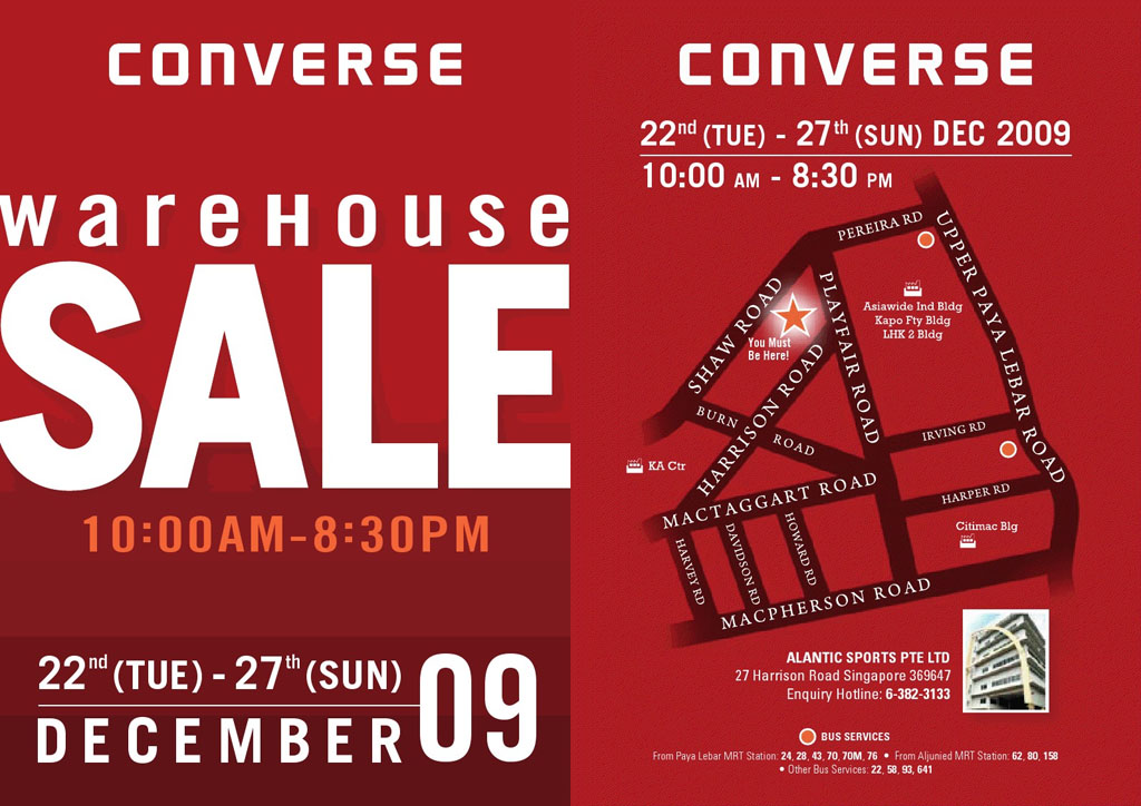 Converse Warehouse Sale | Dec 2009