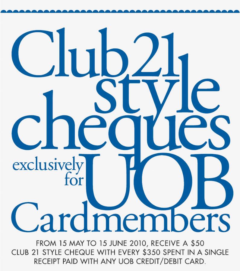 Club21 & UOB Promotion + Bazaar Sale