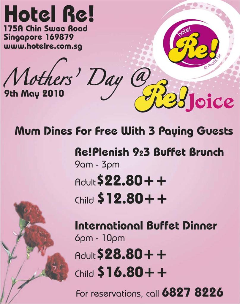 Hotel Re! Mother's Day Dinner Promotion