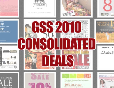 Great Singapore Sale 2010 Consolidated Deals