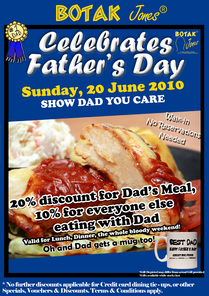 Father's Day Specials at Botak Jones
