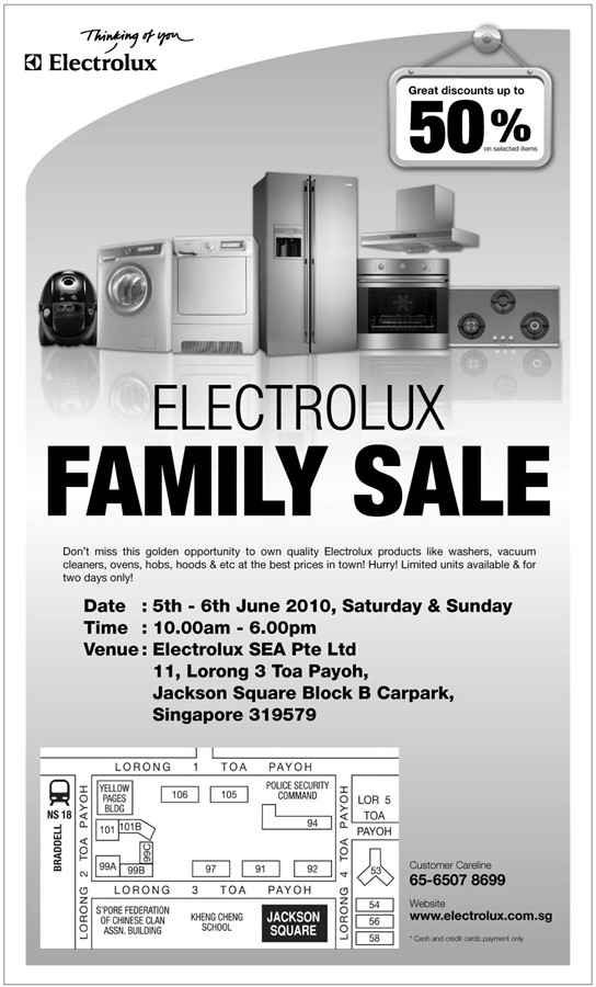 Electrolux Family Sale