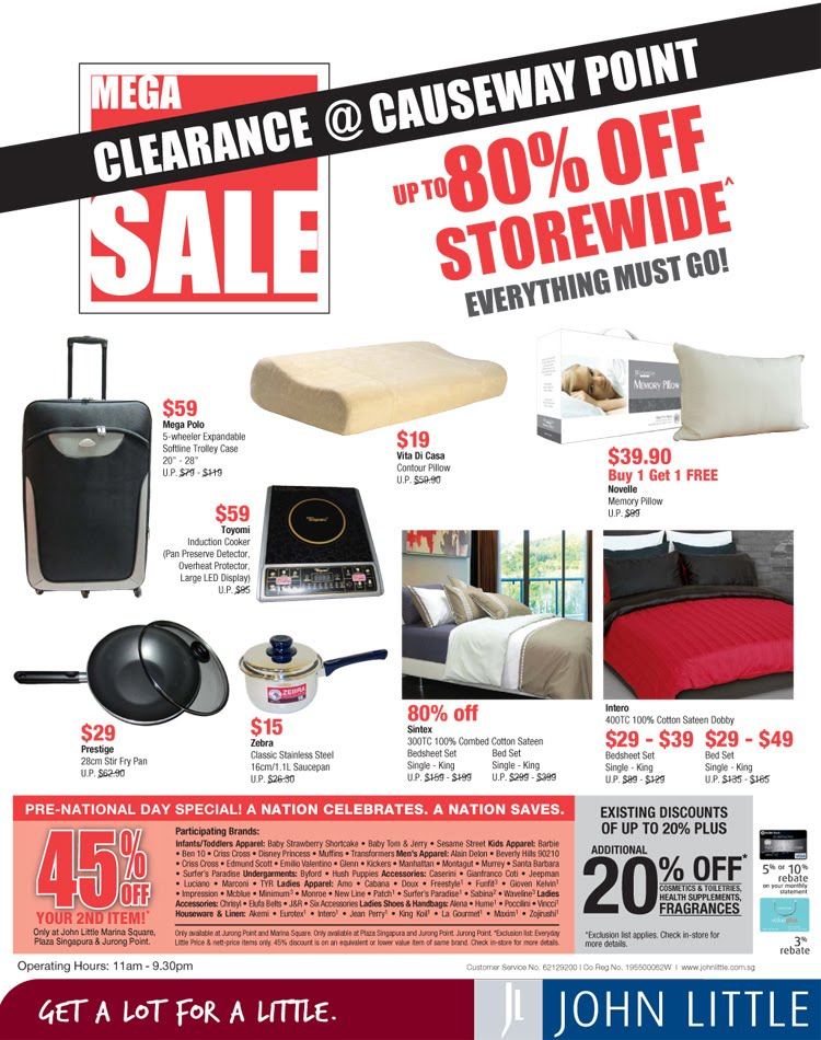 John Little Clearance Sale at Causeway Point