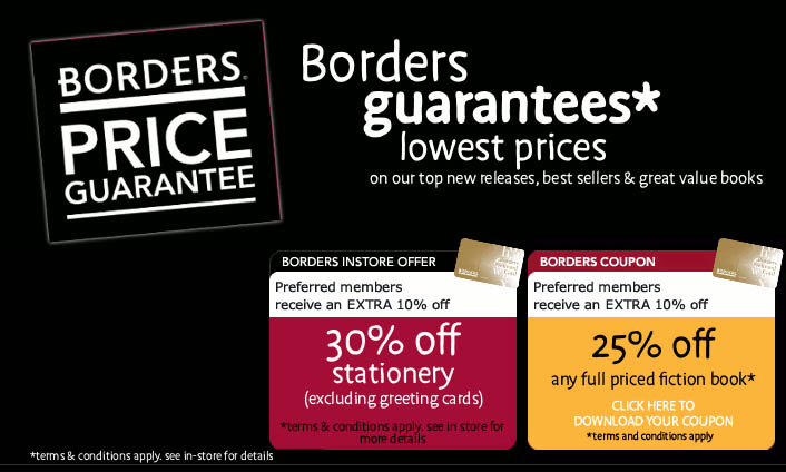 BORDERS Books Latest Offers