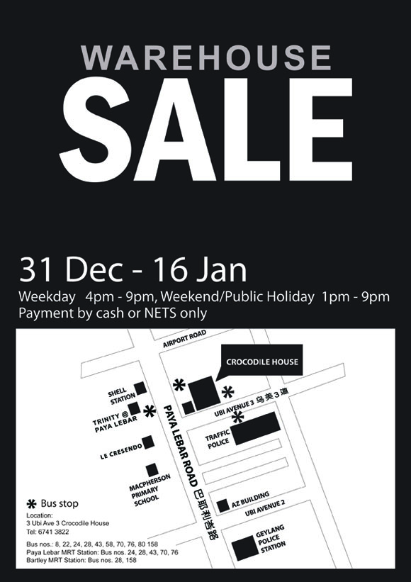 Crocodile Warehouse Sale 2010/2011