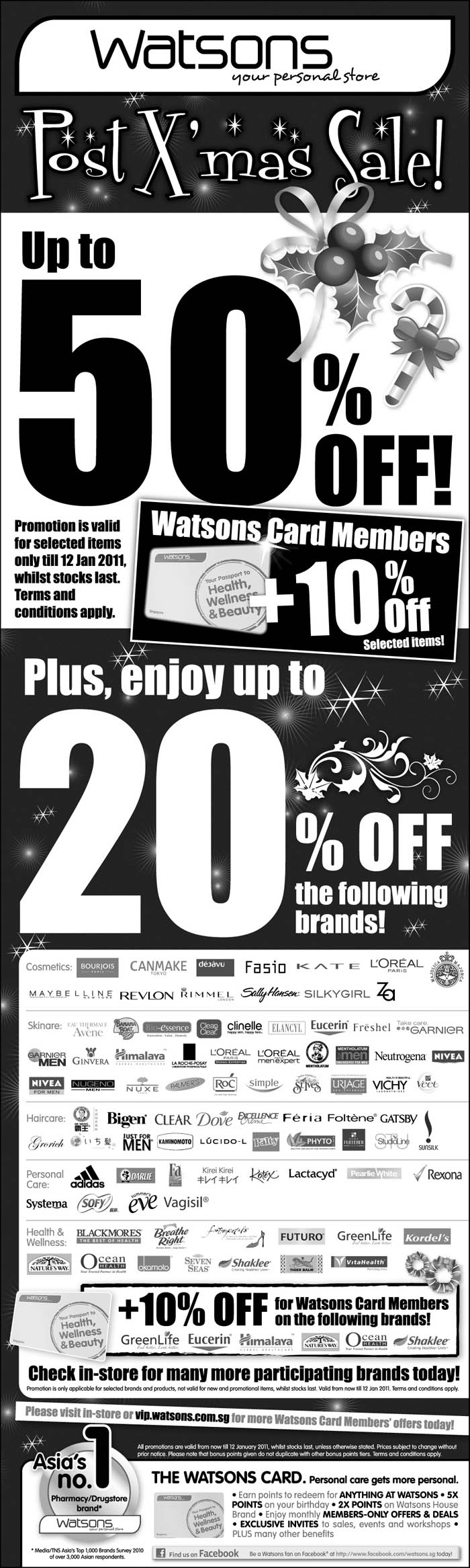 Watsons Post-Christmas Sale