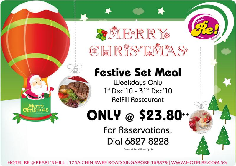 Hotel Re! Festive Set Meal Promotion