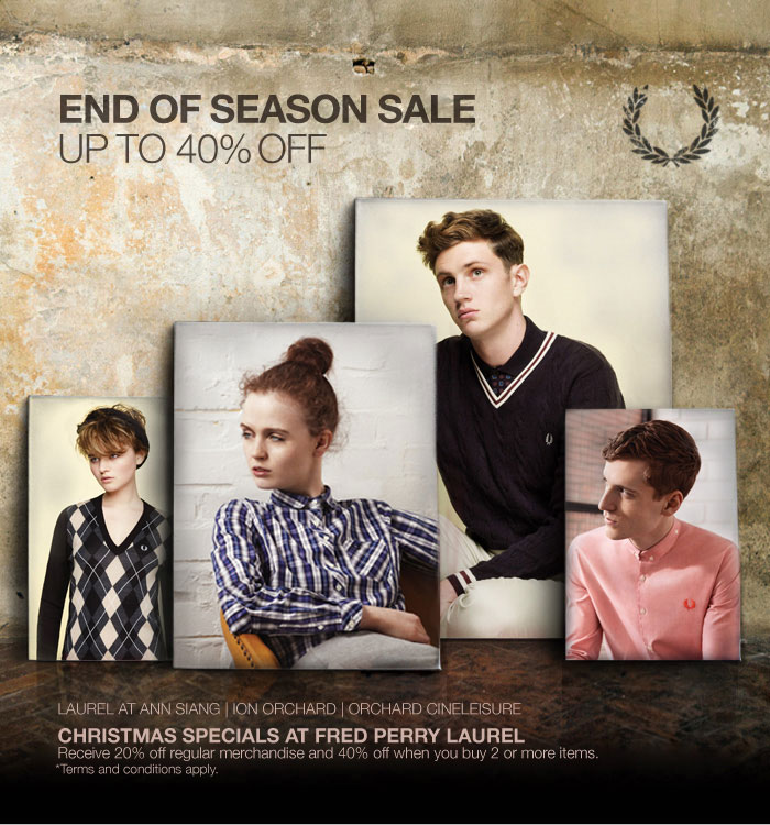 Christmas Specials at Fred Perry Laurel