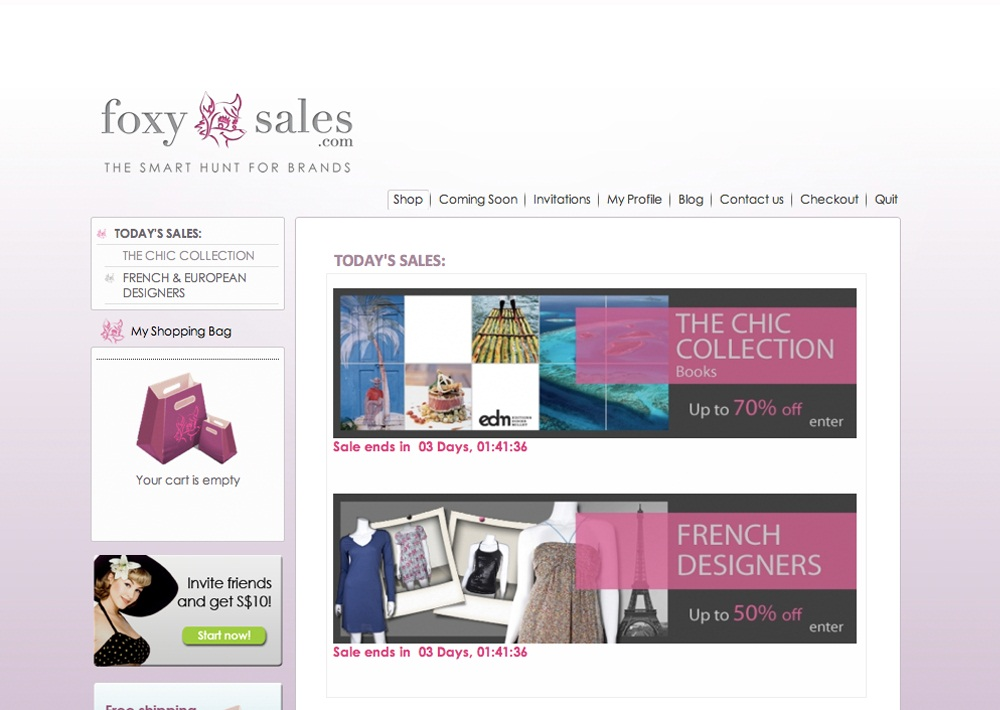 Foxysales.com Site Launch Sales Promotion