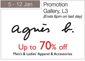 Isetan Men's and Ladies apparels and accessories sale