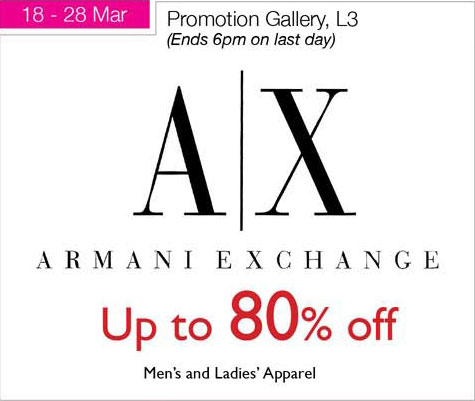 Armani Exchange Sale at Isetan Scotts
