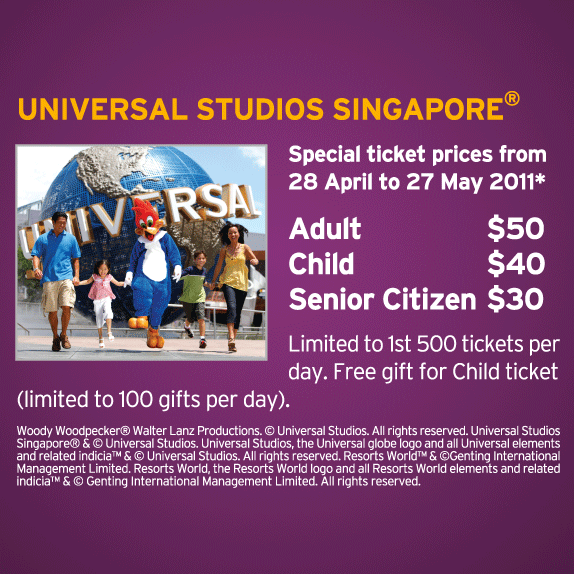 Ntuc Member S Special Rates For Universal Studios Great