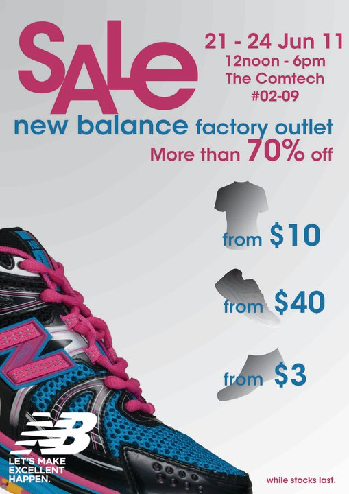 New Balance Factory Outlet Sale @ The Comtech