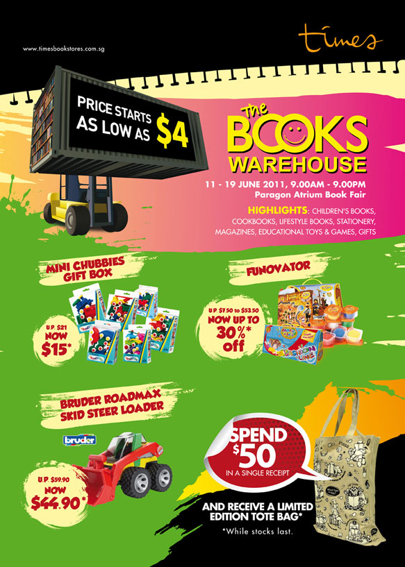 The Books Warehouse Sale by Times Bookstores