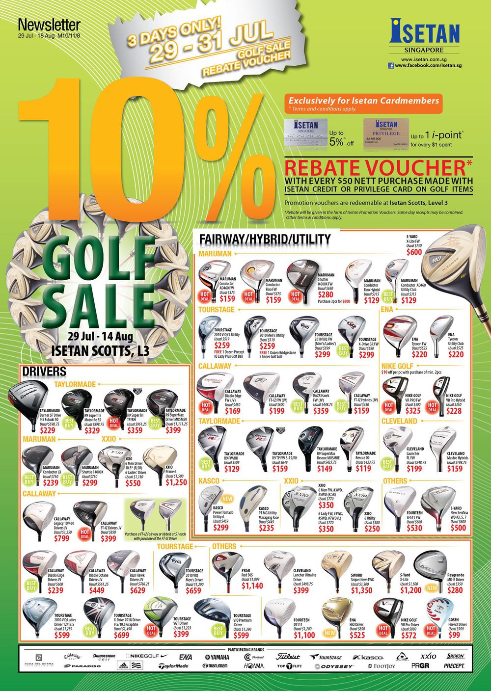Isetan Scotts 3-Day Golf Sale