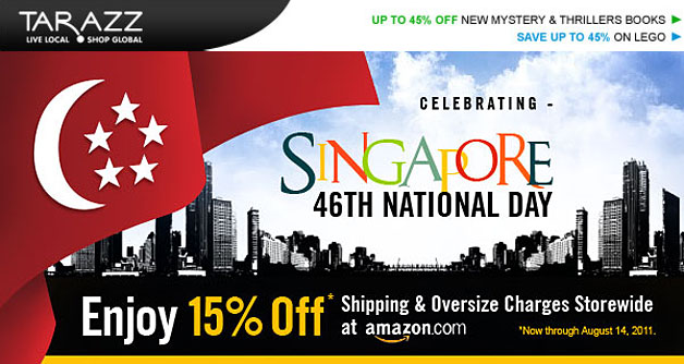 Tarazz National Day Promotion, Shop @ Amazon.com 15% Off Shipping