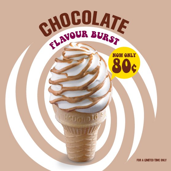McDonald's 80 cent Chocolate Flavour Burst