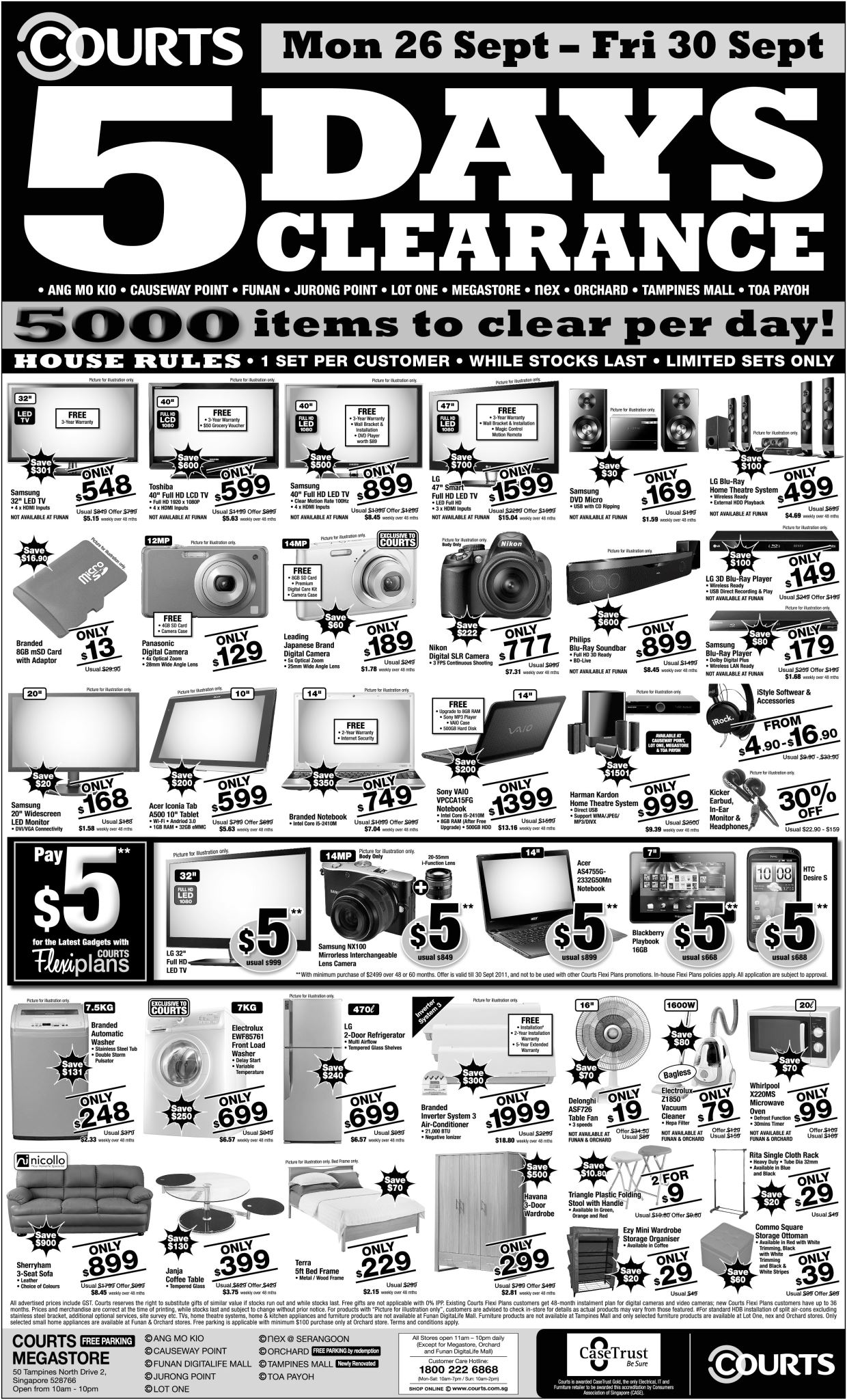 Courts Clearance Sale
