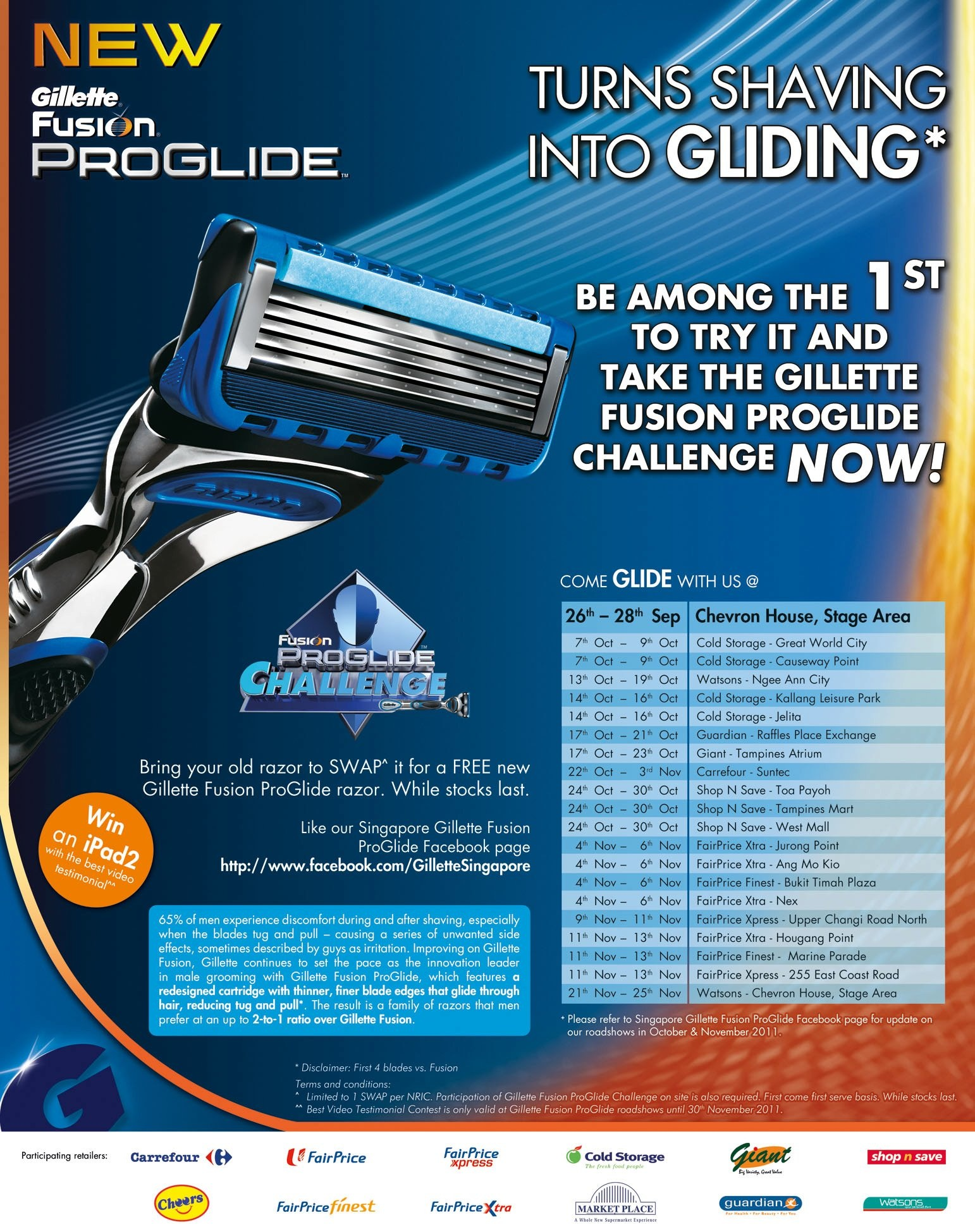 Gillette Fusion ProGlide Challenge and Giveaway