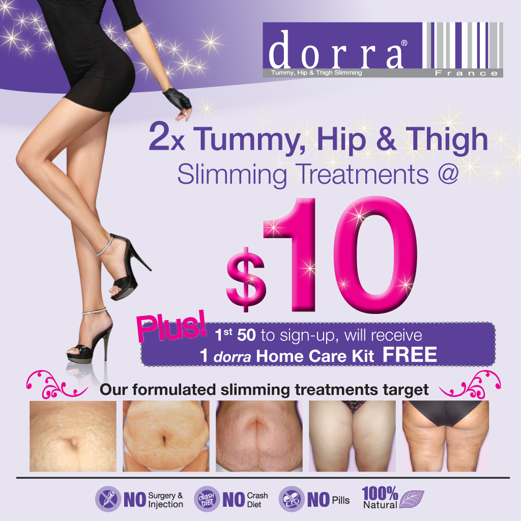 $10 for 2 dorra Slimming Treatments + Professional Full Body Fat Analysis