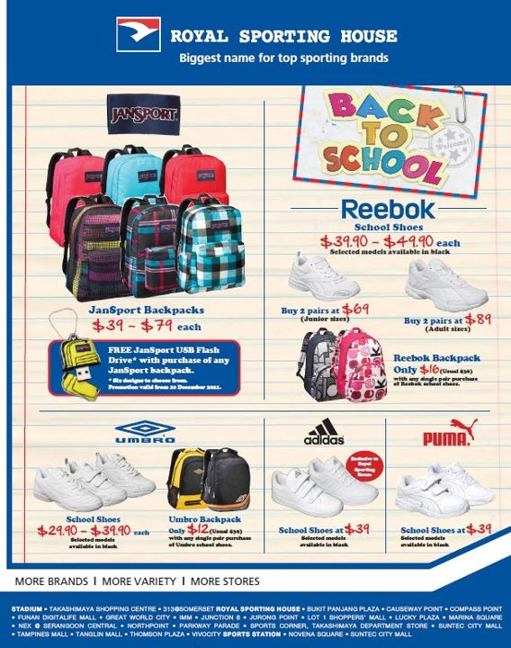 Royal Sporting House Back to School Specials