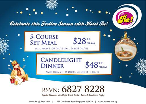 Christmas Dining Promotion at Hotel Re!