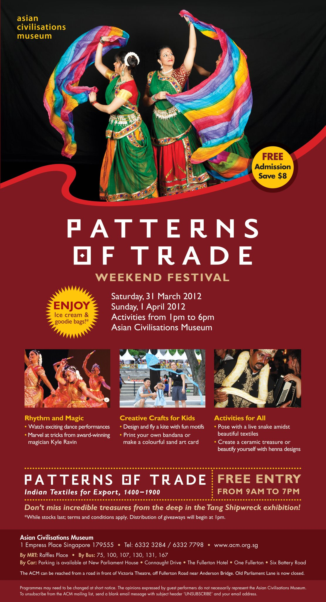 Free Admission ACM Patterns of Trade Festival